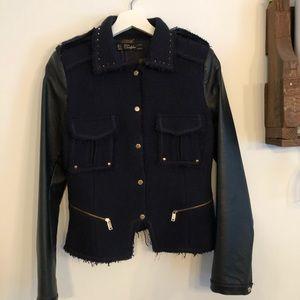 ZARA navy tweed coat